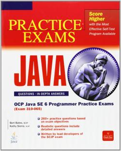 SCJP SUN CERTIFIED PROGRAMMER FOR JAVA 6 PRACTICE EXAMS (EXAM 310-065)
