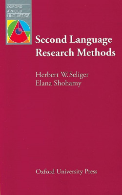 SECOND LANGUAGE RESEARCH METHODS