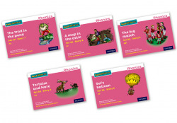 Read Write Inc - Phonics Set 3A Pink Story Books - Colour Pack of 5