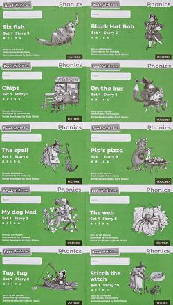 READ WRITE INC.PHONICS:BLACK AND WHITE GREEN SET 1 STORYBOOKS