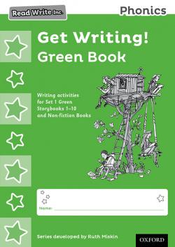 PACK 10 READ WRITE INC.PHONICS:GET WRITING! GREEN BOOK PACK