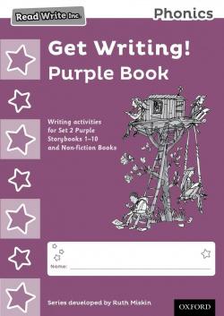PACK 10 READ WRITE INC.PHONICS GET WRITING! PURPLE BOOK