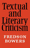TEXTUAL AND LITERARY CRITICISM PB