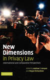NEW DIMENSIONS IN PRIVACY LAW HB