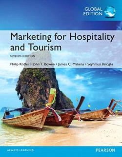 MARKETING FOR HOSPITALITY AND TOURISME