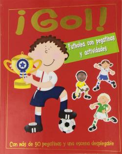 Gol. futbolea con pegatinas y actividades