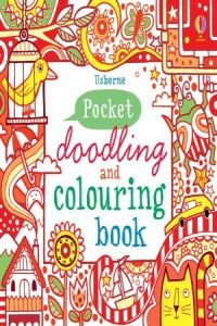 Little doodling and colouring book:red