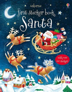 First sticker books: santa