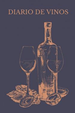 Diario de vinos:cuaderno;libro para registrar catas vinos