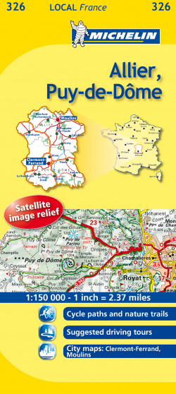 Mapa Local Allier, Puy-de-Dôme