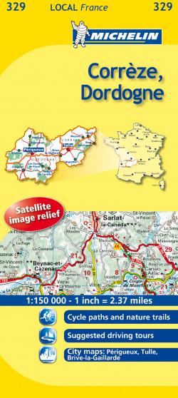 Mapa Local Corrèze, Dordogne