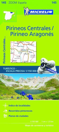 Mapa zoom pirineos centrales/pirineo aragones