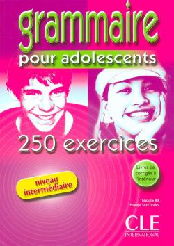 (INTERM).GRAMMAIRE POR ADOLESCENTS 250 EXERCICES/LIVRE+COR.