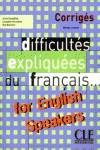 (CORRIGE).DIFFICULTES EXPLIQUEES DU FRANCAIS ENGLISH SPEAKER