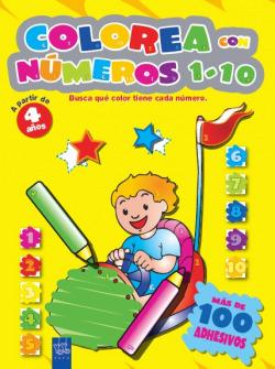 Colorea con números 1-20 verde