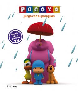 Pocoyó juega con el paraguas