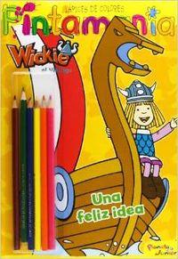 Wickie el Vikingo. Pintamanía Lápices de colores