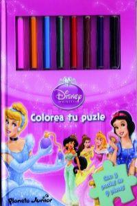 Princesas Disney. Colorea tu puzzle
