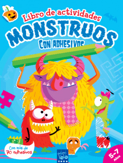 Actividades con adhesivos: monstruos