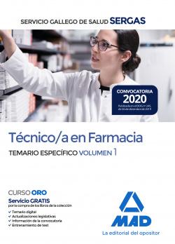 Técnico/a en Farmacia del Servicio Gallego de Salud . Temario específico volumen 1