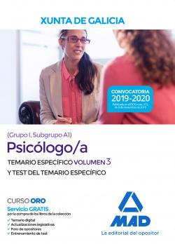 Psicólogo;a de la Xunta de Galicia (Grupo I, Subgrupo A1). Volume