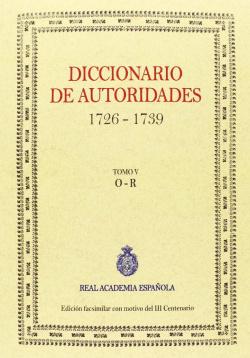 Diccionario de autoridades vol. V