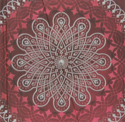 Cuaderno mandala goma rojo