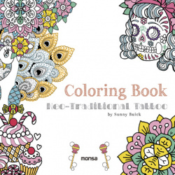 Coloring book:neo-traditional tattoo