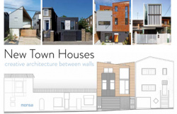 New town houses creative architecture between walls
