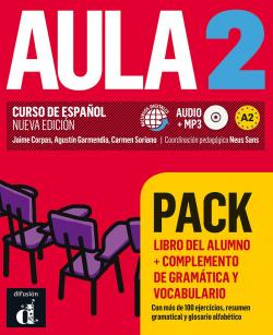 AULA 2 PACK LIBRO +COMPLEMENTO DE GRAMÁTICA Y VOCABULARIO