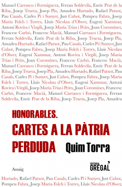 HONORABLES. CARTES A LA PATRI PERDUDA