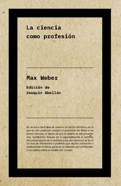 La ciencia como profesión (NE)