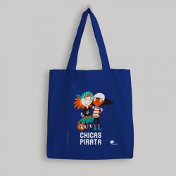 Bolsa de tela 'Chicas Pirata' - color azul