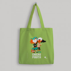 Bolsa de tela 'Chicas pirata' - color verde