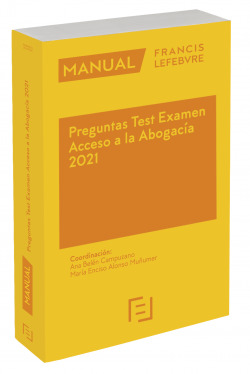 Manual Preguntas Test Examen Acceso a la Abogacía 2021