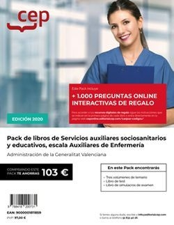 PACK DE LIBROS Oposiciones Servicios auxiliares socio-sanitarios