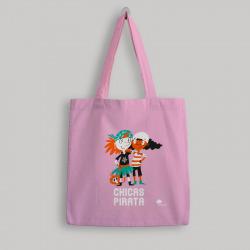 Bolsa de tela 'Chicas Pirata' - color rosa