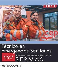 TÈCNICO EN EMERGENCIAS SANITARIAS. SERMAS.(TEMARIO VOL.II)