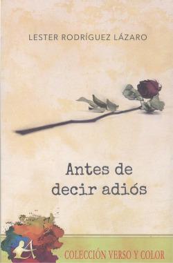 ANTES DE DECIR ADIÓS