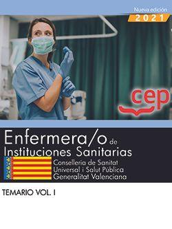 ENFERMERA;O DE INSTITUCIONES SANITARIAS. TEMARIO VOL.I