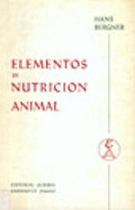 ELEMENTOS DE NUTRICIÓN ANIMAL