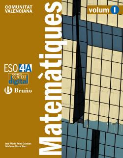 ContextDigital Matemàtiques 4 A ESO Comunitat Valenciana