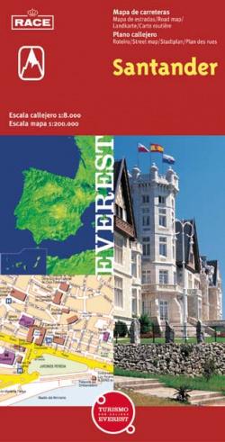 Santander, Cantabria. Plano callejero y mapa de carreteras.