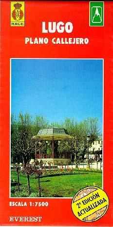 Lugo. Plano callejero y mapa de carreteras