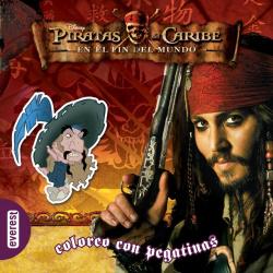 Piratas del Caribe. En el fin del Mundo. Coloreo con pegatinas