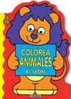Colorea animales el león