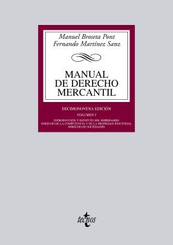 MANUAL DE DERECHO MERCANTIL.VOL.1 (BIBL.UNIVERSITARIA)