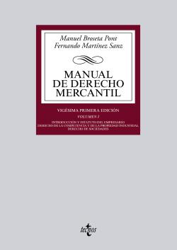 MANUAL DE DERECHO MERCANTIL.VOL.1