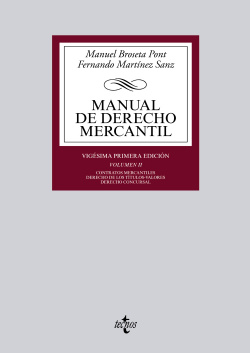 (VOL.II).MANUAL DE DERECHO MERCANTIL.(BIBLIO. UNIVERSITARIA