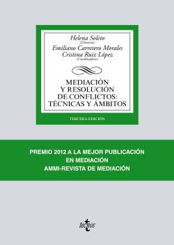 (2017).MEDIACION Y RESOLUCION CONFLICTOS:TECNICAS Y AMBITOS